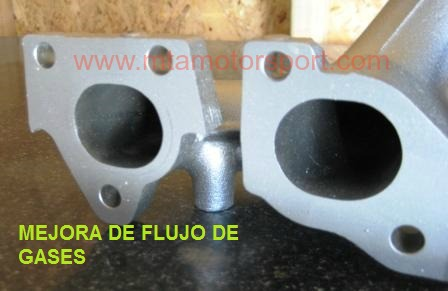 MODIFICACION MEJORA COLECTOR ESCAPE DE MOTOR TIPO FUNDIDO-1