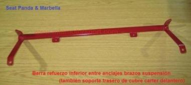 barra refuerzo inferior anclajes brazos suspension seat panda - marbella